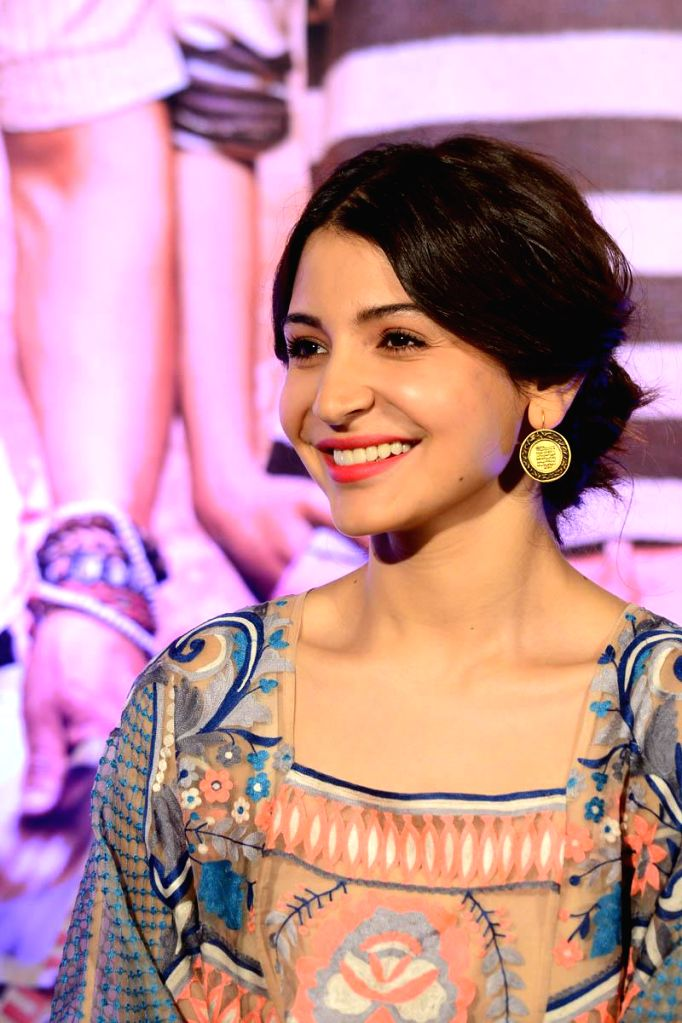 Actor Anushka Sharma during the during the promotion of the film PK in Hyedrabad. - Anushka Sharma