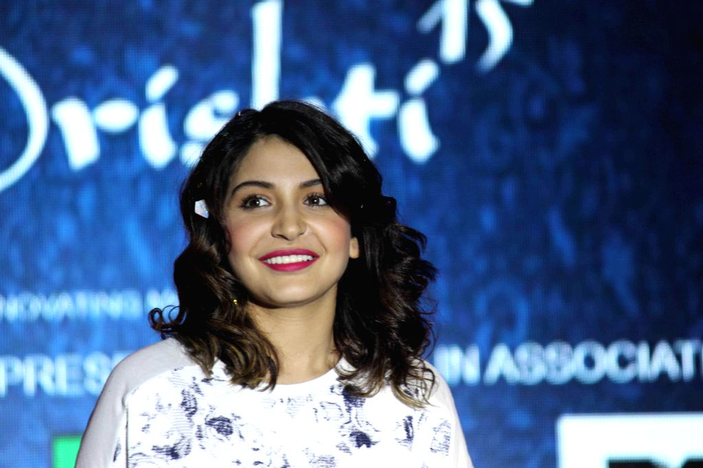 Actor Anushka Sharma during the promotion of film NH10 in Mumbai on Feb 17, 2015. (Photo : IANS) - Anushka Sharma