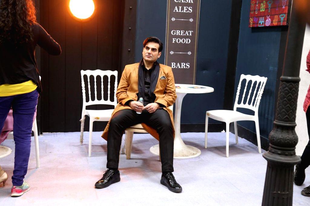 "Mumbai: Actor Arbaaz Khan during the shooting of his upcoming film ""Sridevi Bungalow"" in Mumbai on July 15, 2019. (Photo: IANS) - Arbaaz Khan"
