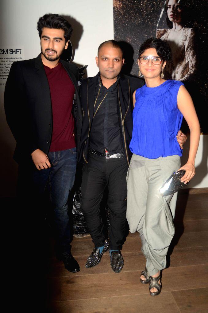 Actor Arjun Kapoor, Fashion designer Gaurav Gupta with Bollywood filmmaker Kiran Rao.JPG (785K) - Arjun Kapoor and Kiran Rao