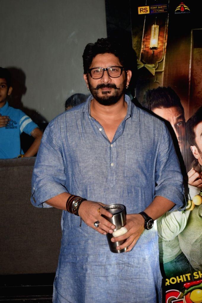 "Mumbai: Actor Arshad Warsi during the screening of film ""Golmaal Again"" in Mumbai on Oct 21, 2017. (Photo: IANS) - Arshad Warsi"