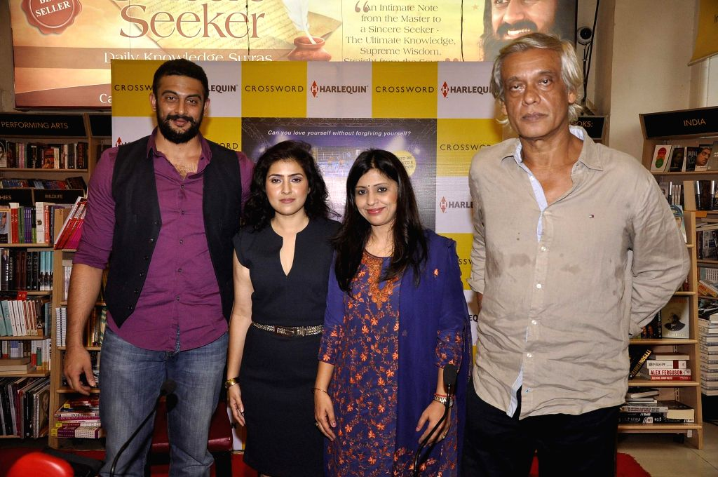 Actor Arunoday Singh, author Nidhie Sharma, Amrita Chowdhury, India head and director, Harlequin and filmmaker Sudhir Mishra during the launch of book Dancing with Demon in Mumbai, on Nov 18, - Arunoday Singh, Nidhie Sharma and Sudhir Mishra