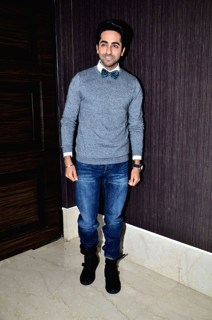 Actor Ayushman Khurana during the press conference of Fertility Enhancement & Management (FEM) in Mumbai, on Nov. 22, 2014.