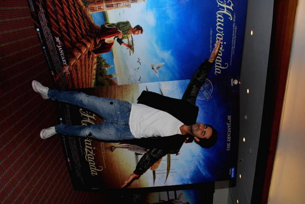 Actor Ayushmann Khurana during the press meeting of film Hawaizaada in Mumbai on Jan. 14, 2015.