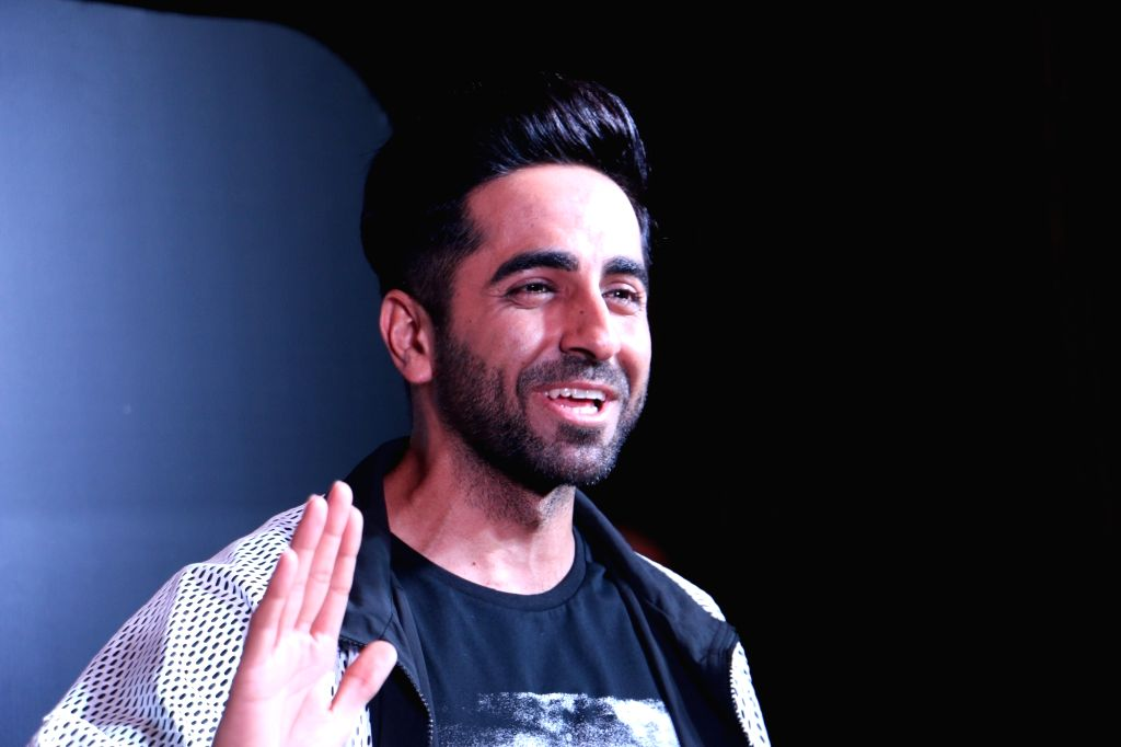 """Mumbai: Actor Ayushmann Khurrana at a party organised to celebrate the success of the film """"Andhadhun"""" after the film won Best Film award at the 66th National Film Awards, in Mumbai on Aug 21, 2019. (Photo: IANS) - Ayushmann Khurrana"""