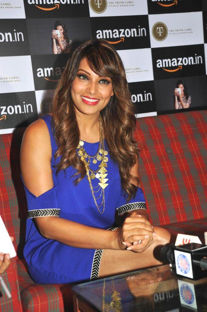 Actor Bipasha Basu during the announcement of partnership between Amazon.in and The Label Corp in Mumbai, on Nov 19, 2014. - Bipasha Basu