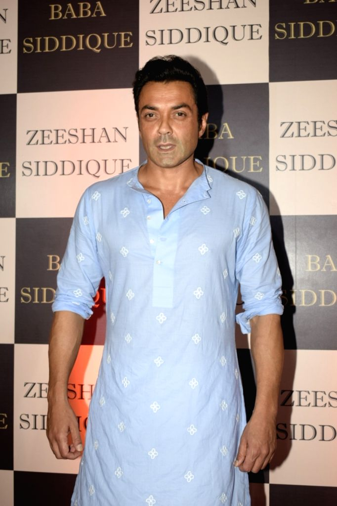 : Mumbai: Actor Bobby Deol at politician Baba Siddique's iftar party in Mumbai on June 10, 2018. (Photo: IANS).