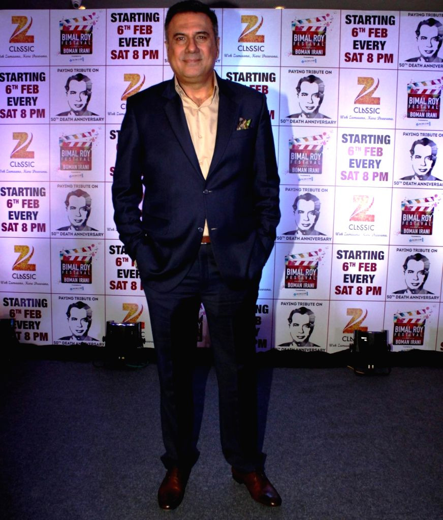 Mumbai: Actor Boman Irani at the launch of Zee Classic`s - `The Bimal Roy Festival presented by Boman Irani` event, in Mumbai, on Jan 20, 2016.