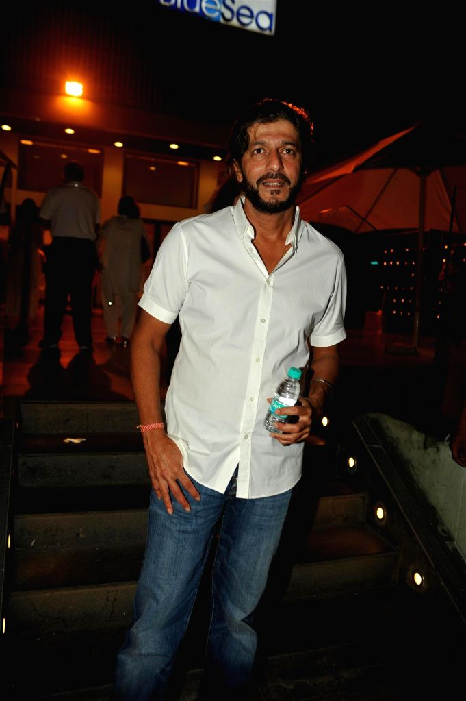 Actor Chunky Pandey during the condolence meeting organised in the memory of late filmmaker Ravi Chopra in Mumbai, on Nov 15, 2014. - Chunky Pandey