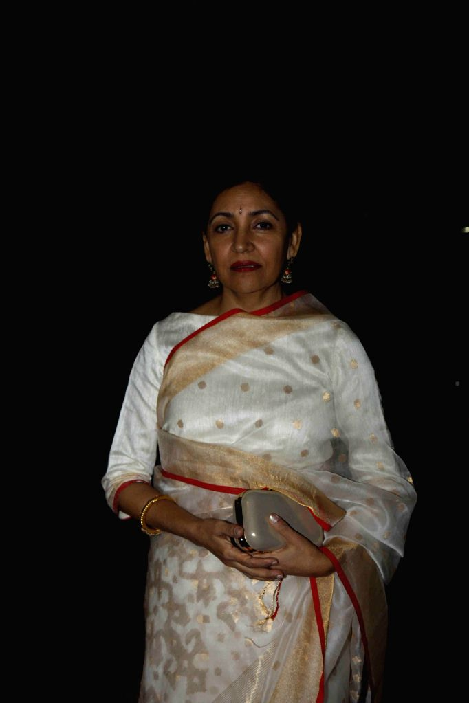 Actor Deepti Naval during the All India Achievers Award in Mumbai, on Jan. 09, 2015. - Deepti Naval