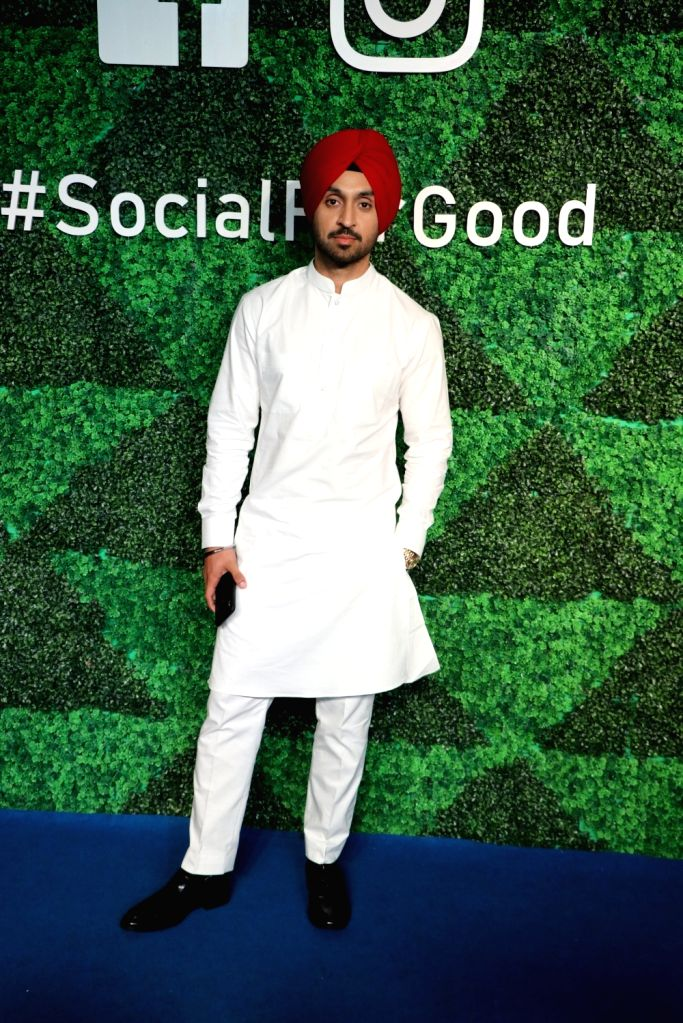 Mumbai: Actor Diljit Dosanjh at Facebook's #socialforgood event in Mumbai on Nov 27, 2018. (Photo: IANS) - Diljit Dosanjh