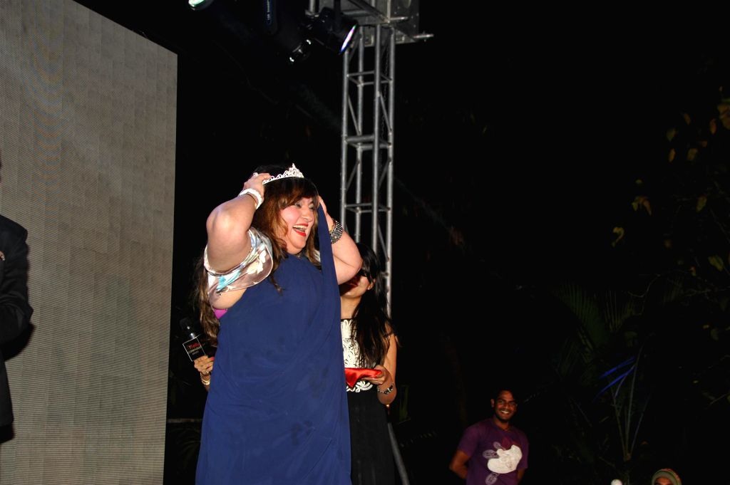 Actor Dolly Bindra during the launch of Telly Calender 2015 in Mumbai, on Dec 23, 2014. - Dolly Bindra