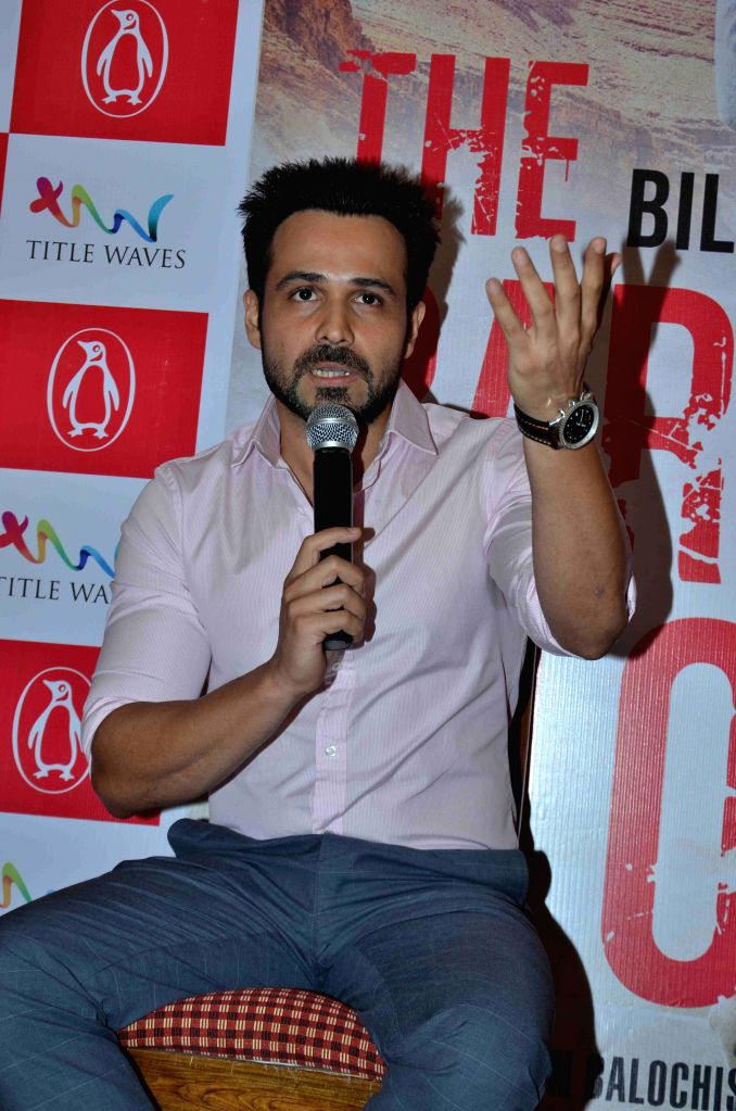 Actor Emraan Hashmi during the launch of author Bilal Siddiqi's book - The Bard of Blood  in Mumbai on 4th May 2015 - Emraan Hashmi
