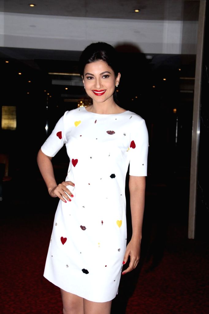 Actor Gauhar Khan during the inauguration of India and SAARC Operations, in Mumbai, on Feb 10, 2015. - Gauhar Khan