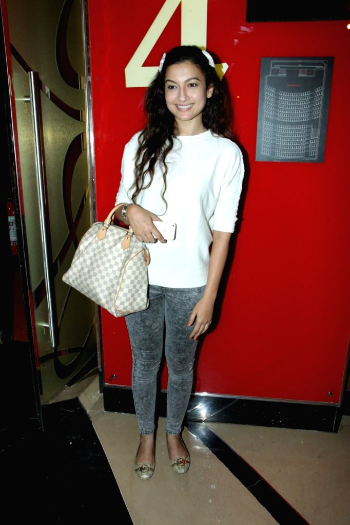 Actor Gauhar Khan spotted at Hollywood film Gone Girl show at PVR Cinemas in Mumbai on Nov. 11, 2014.
