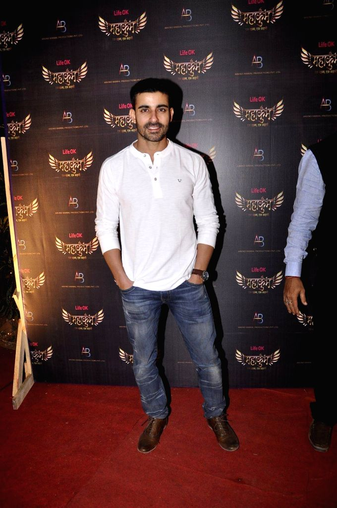 Actor Gautam during the launch of Life Ok`s serial Mahukukumb at Filmcity in Mumbai, on Dec. 15, 2014. - Gautam