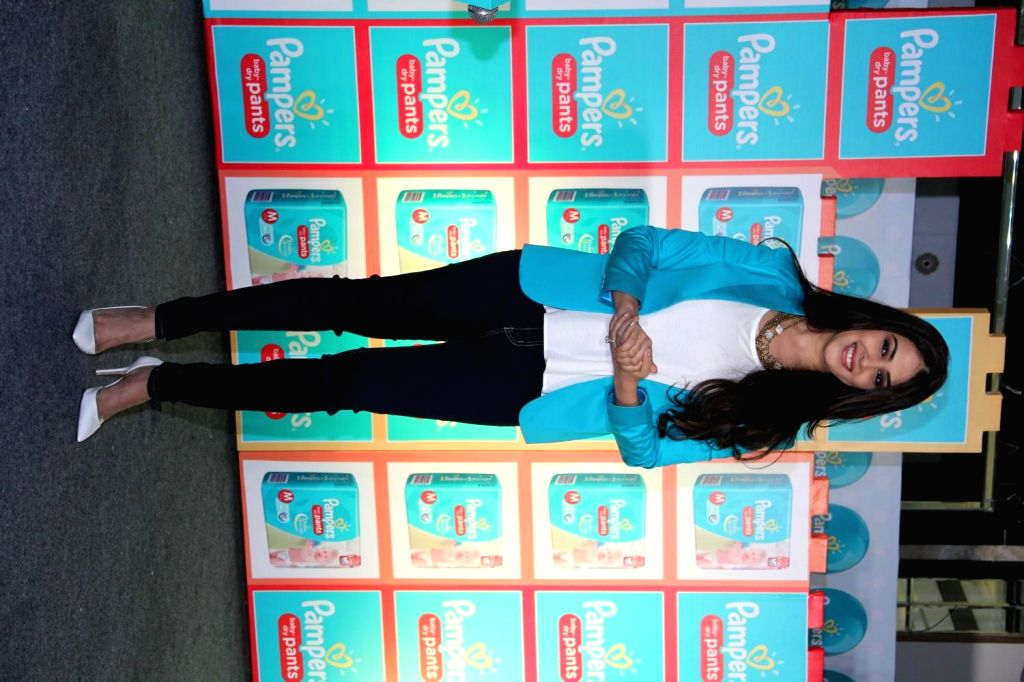 Actor Genelia D'Souza shares intimate and interesting motherhood instances as a new mother for the first time ever, during the promotion of Pampers baby dry pants in Mumbai on Feb 24, 2015. - Genelia D'Souza