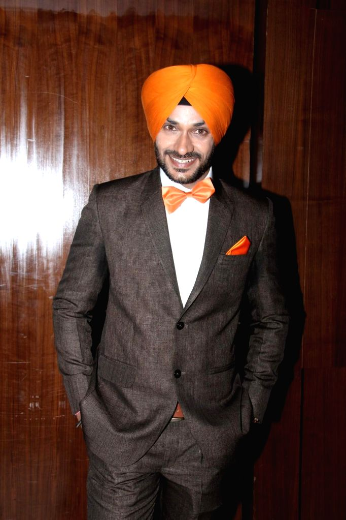 Actor Gurdev Bhullar during the music launch of film Three Atrangi Jai-Veeru-Gabbar in Mumbai on March 20, 2015. - Gurdev Bhullar