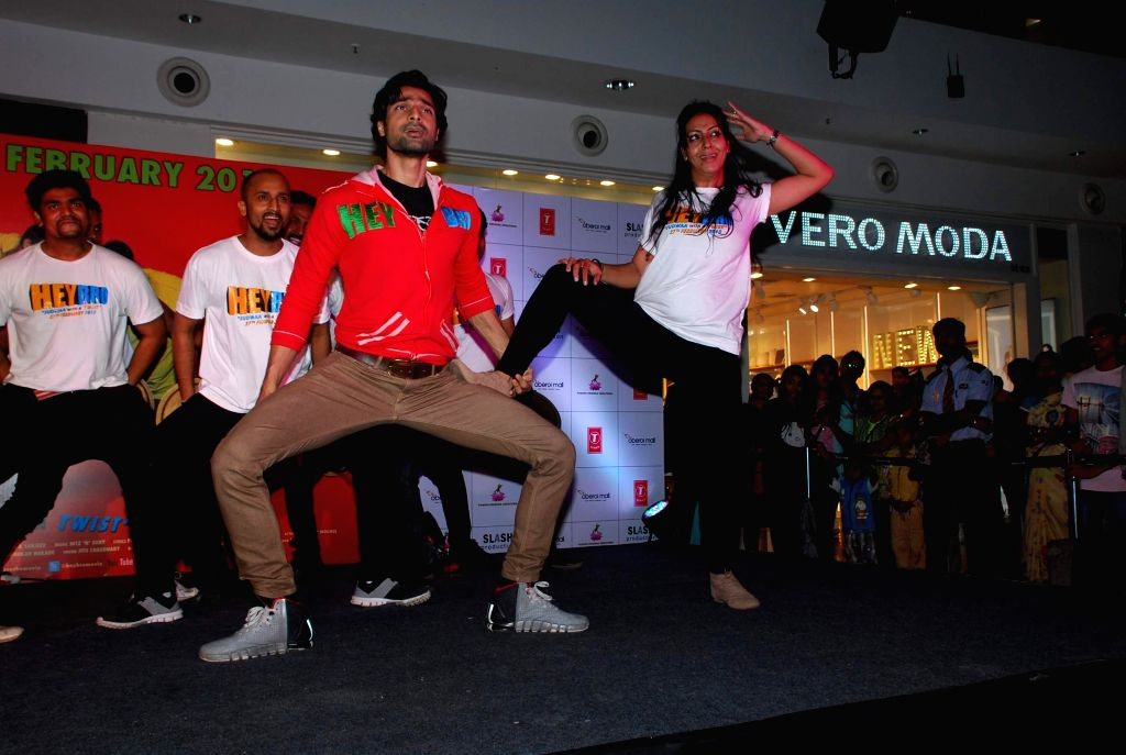 Actor Hanif Hilal during the promotion of his film Hey Bro in Mumbai, on Feb 14, 2015. - Hanif Hilal