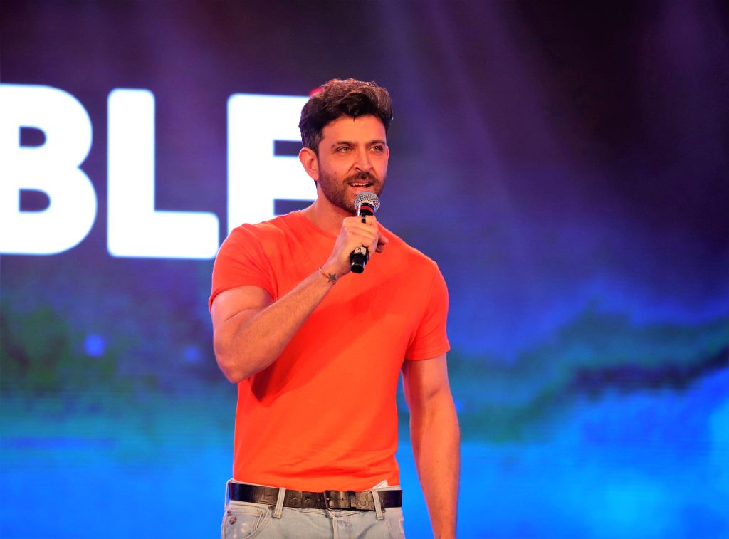 Mumbai: Actor Hrithik Roshan addresses at a programme, in Mumbai, on June 25, 2019. (Photo: IANS) - Hrithik Roshan