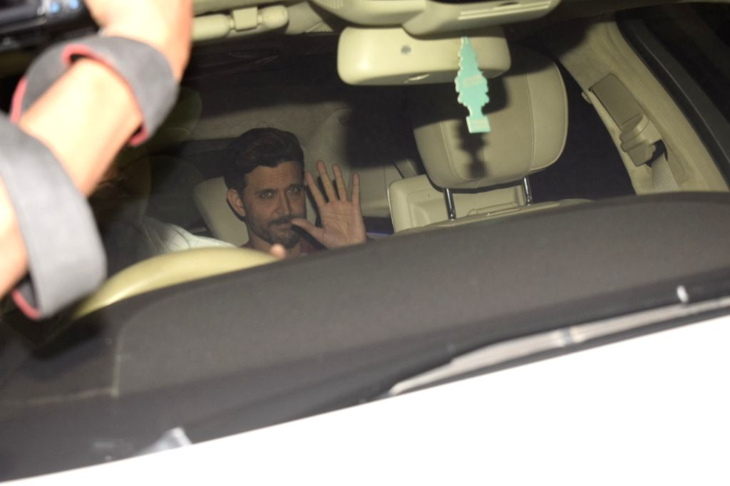 Mumbai: Actor Hrithik Roshan arrive to attend birthday celebrations of actor Sanjay Khan in Mumbai on Jan 3, 2019. (Photo: IANS) - Hrithik Roshan and Sanjay Khan