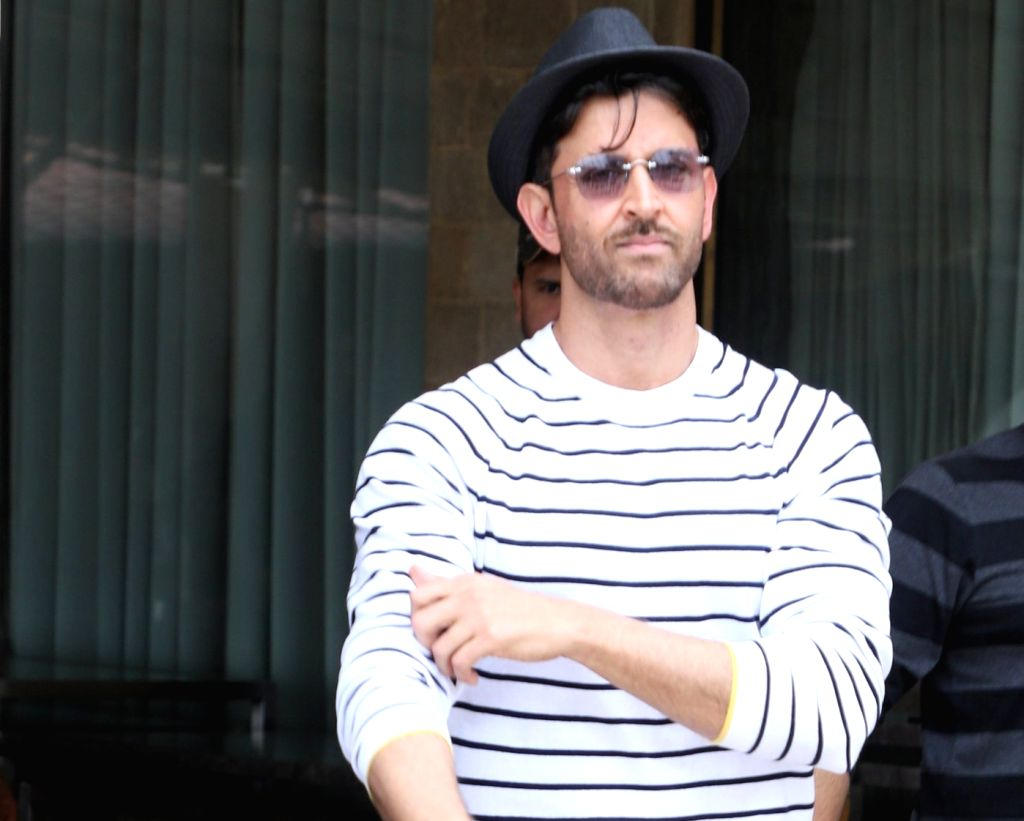 "Mumbai: Actor Hrithik Roshan during the promotion of his upcoming film ""Super 30"" in Mumbai on July 6, 2019. (Photo: IANS) - Hrithik Roshan"