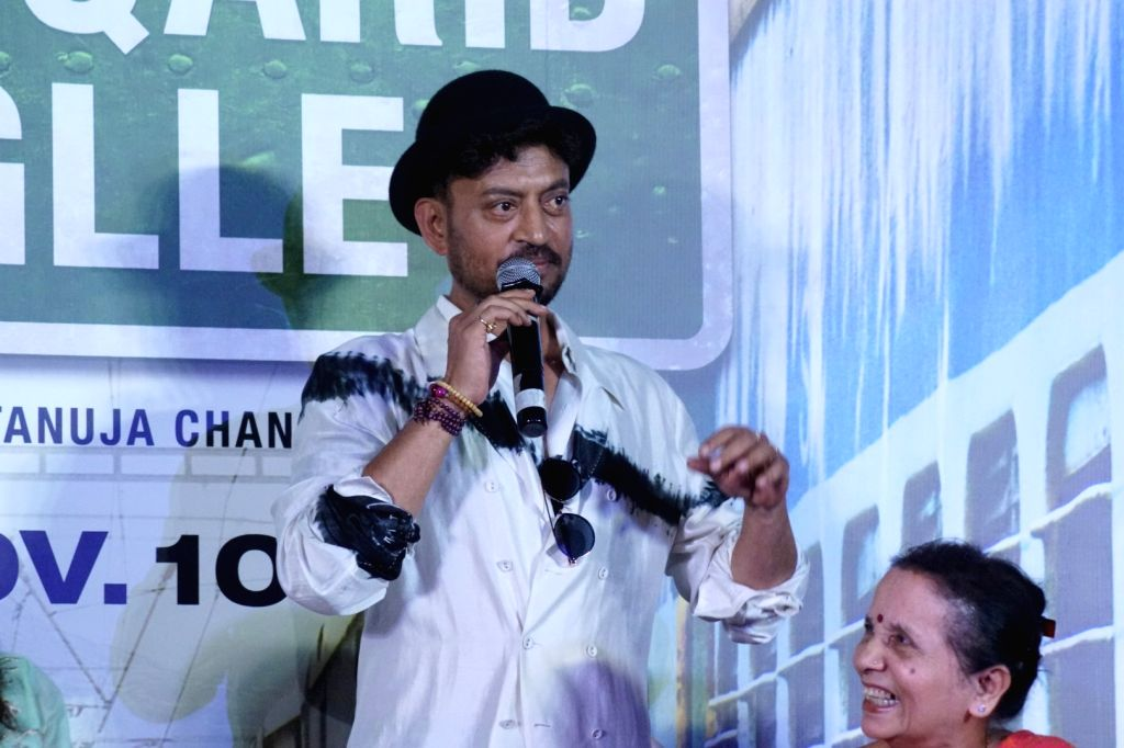 "Mumbai: Actor Irrfan Khan at the trailer launch of his upcoming film ""Qarib Qarib Singlle"" in Mumbai, on Oct 6, 2017. (Photo: IANS) - Irrfan Khan"