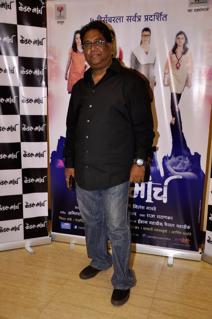 Actor Jaywant Wadkar during the music launch of upcoming Marathi film Candle March in Mumbai, on Nov 17, 2014. - Jaywant Wadkar