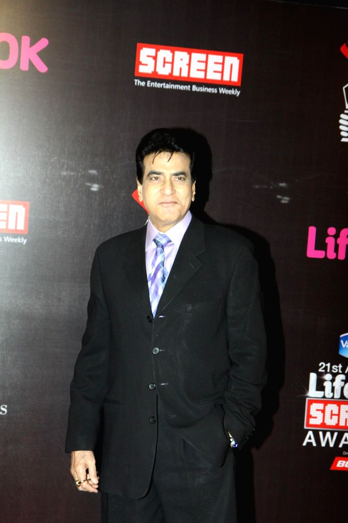 Actor Jeetendra during the 21st Annual Life OK Screen Awards in Mumbai on Jan. 14, 2015. - Jeetendra