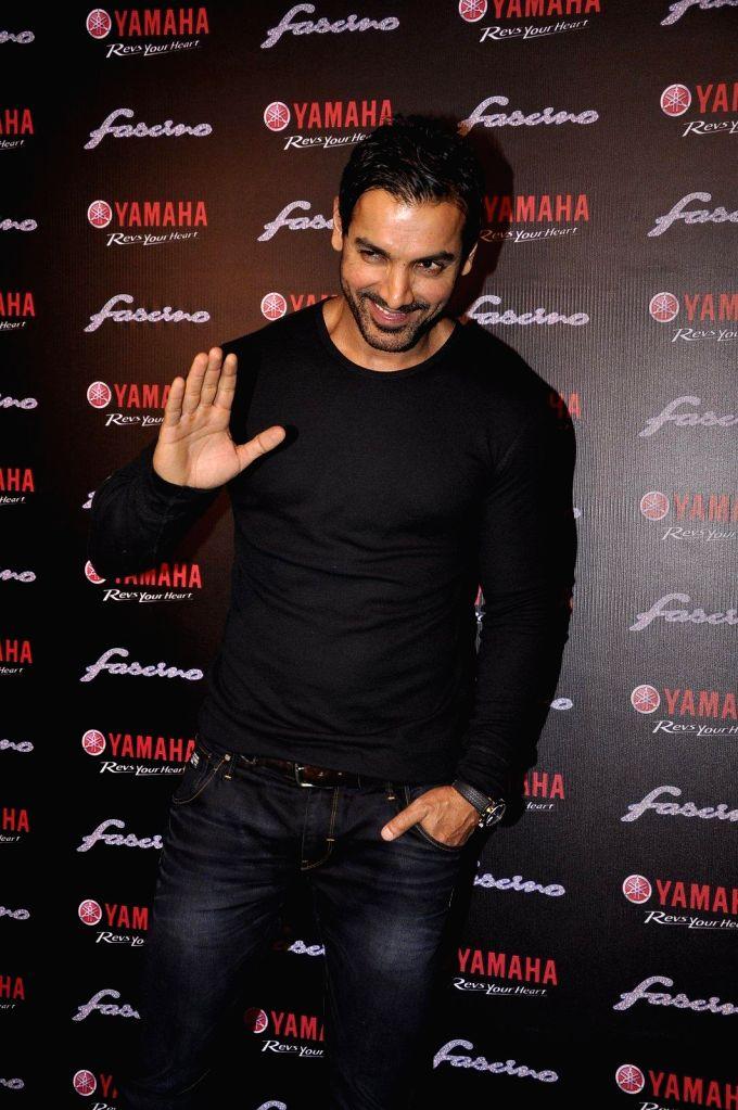 Actor John Abraham during the launch of Yamaha Fascino 2015 calendar in Mumbai on 13th Jan 2015 - John Abraham