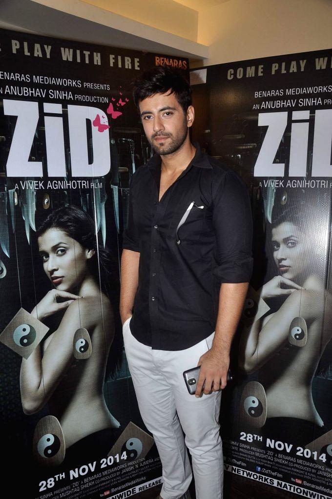 Actor Karanvir at film Zid media interactions, Mumbai on Nov 13, 2014. - Karanvir