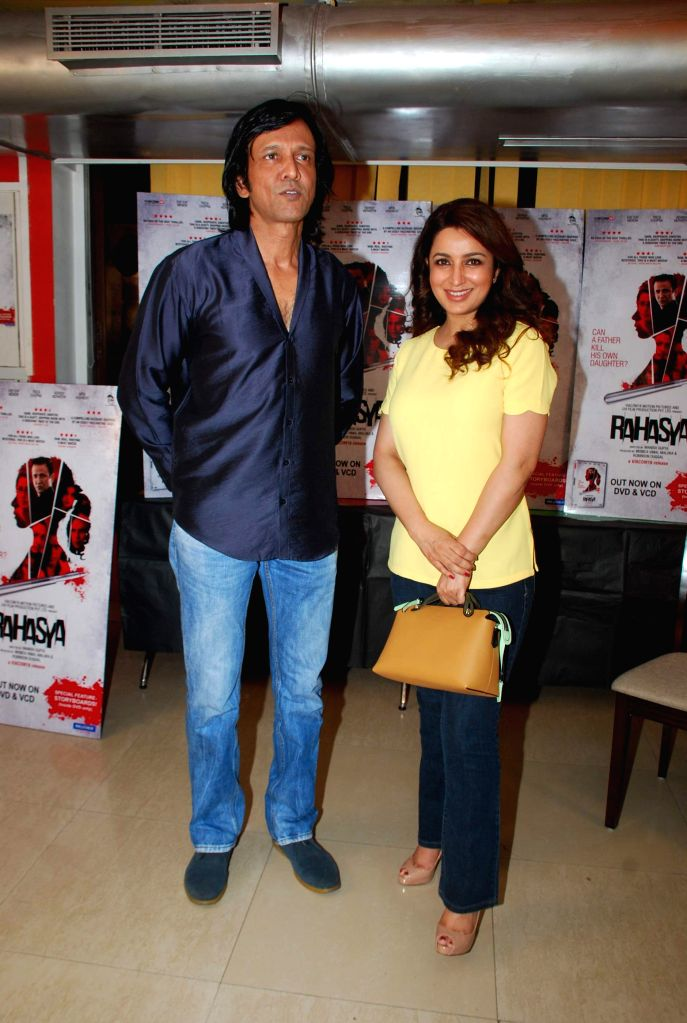 Actor Kay Kay Menon and Tisca Chopra during the DVD launch of film Rahasya in Mumbai, April 3, 2015. - Kay Kay Menon and Tisca Chopra
