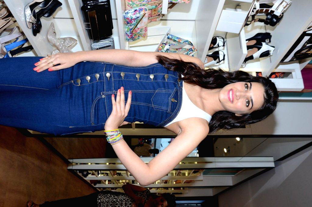 Actor Kriti Sanon during the launch of Summer 2015 collection at a fashion show in Mumbai, on March 10, 2015. - Kriti Sanon
