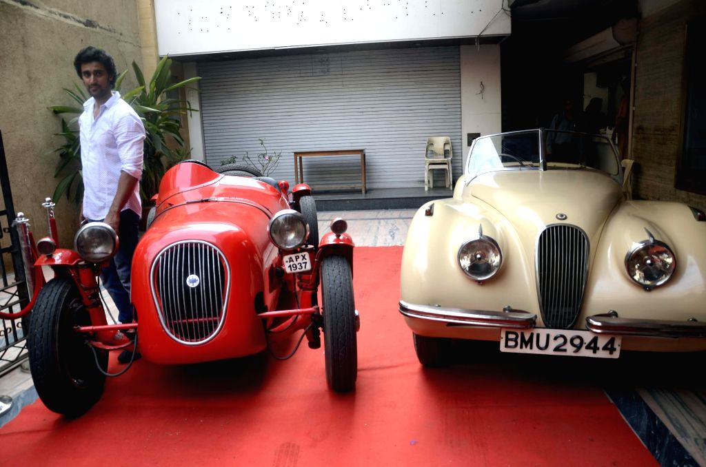 Actor Kunal Kapoor during a vintage car exhibition organised by in Mumbai on March 27, 2015.