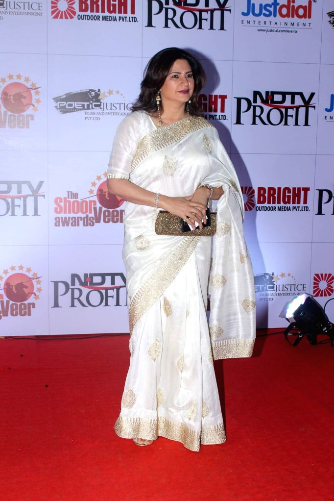 Actor Kunika Lal during the The Shoorveer Awards 2015 in Mumbai on March 14, 2015. - Kunika Lal
