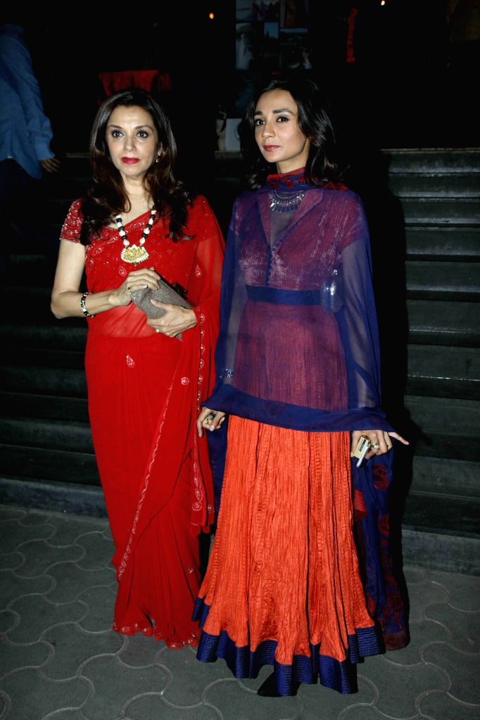 Actor Lillete Dubey with her daughter Ira Dubey during the special screening of Hollywood film The Second Best Exotic Marigold Hotel in Mumbai, on March 13, 2015. - Lillete Dubey