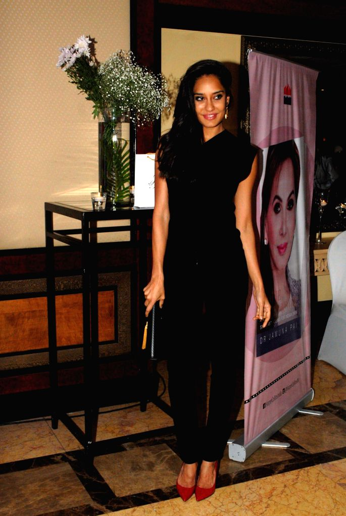 Actor Lisa Haydon during the launch of Dr Jamuna Pai's book No One Has to Know, the ultimate skin care and Anti Ageing Guide in Mumbai, on Jan 27, 2015. - Lisa Haydon