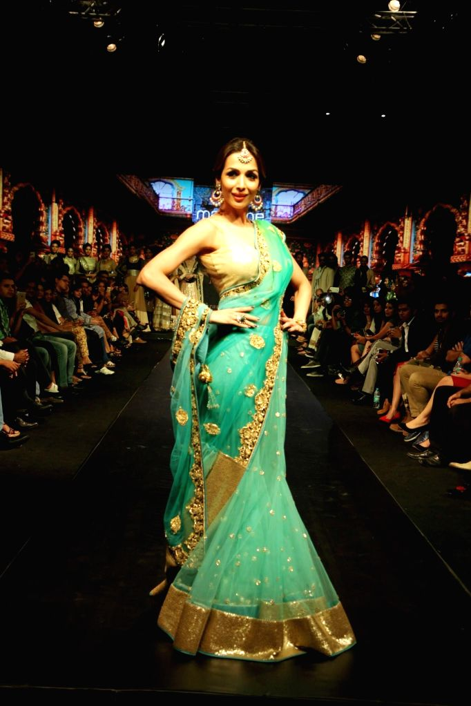 Actor Malaika Arora Khan during Madame Style Week fashion show in Mumbai, on November 22, 2014. - Malaika Arora Khan