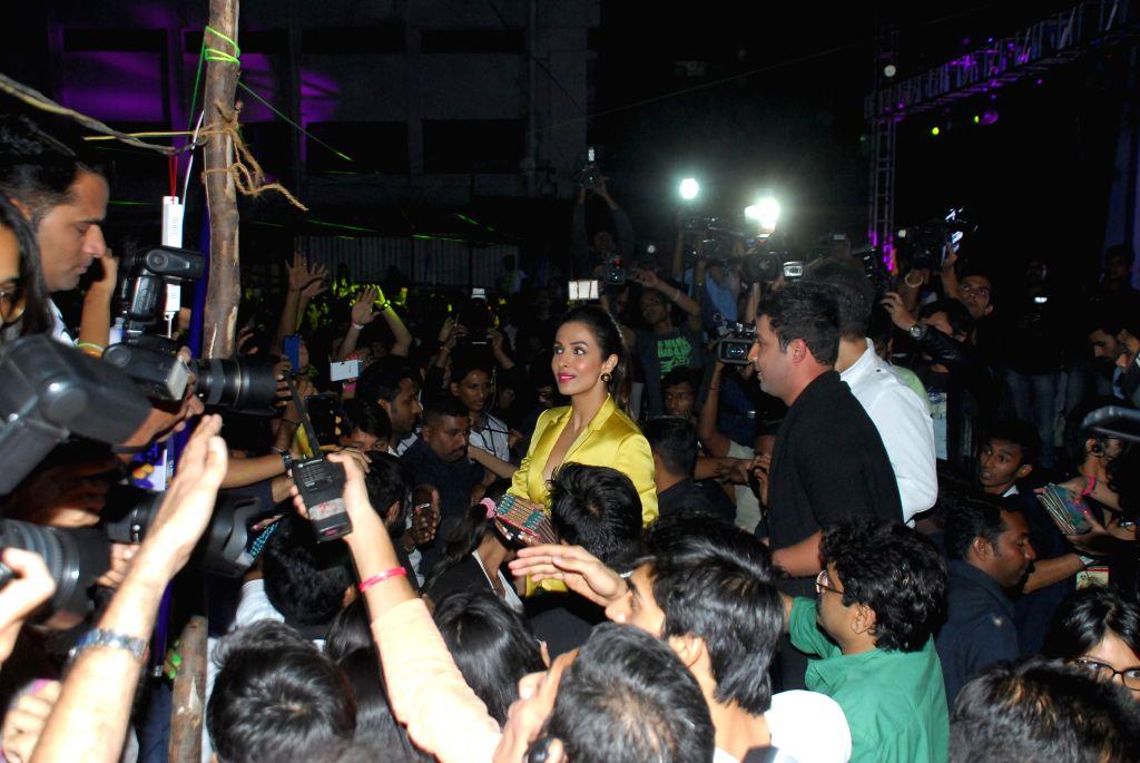 Actor Malaika Arora Khan during the music launch of upcoming film Dolly Ki Doli in Mumbai, on jan. 09, 2015. - Malaika Arora Khan