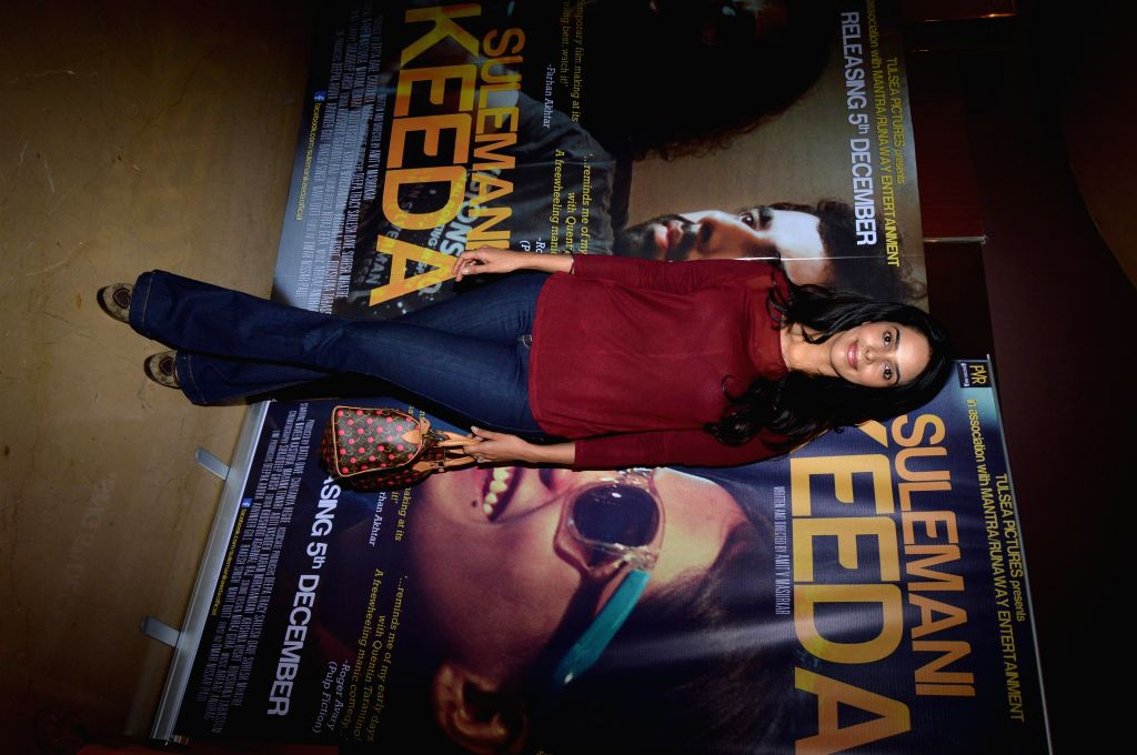 Actor Mallika Sherawat during the screening of film Sulemani Keeda in Mumbai,on Dec 10, 2014. - Mallika Sherawat