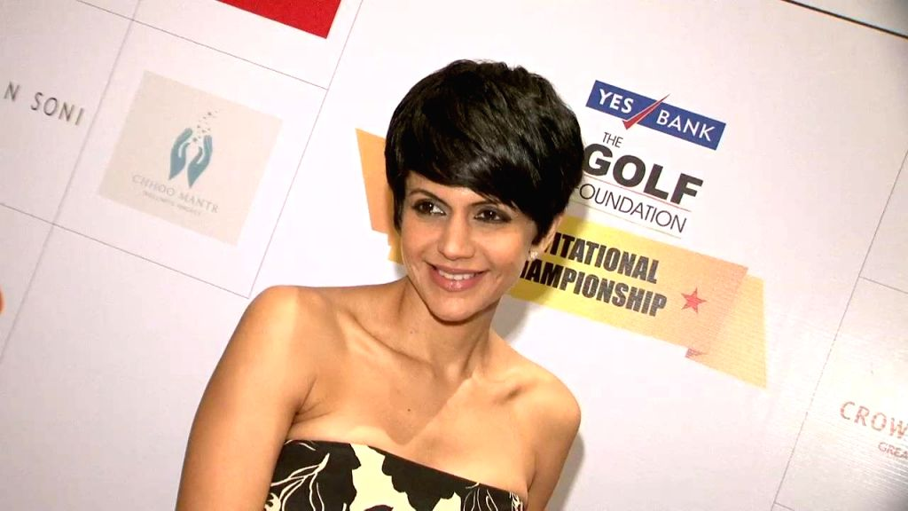 Actor Mandira Bedi at Yes Bank Golf Foundation event in Mumbai, on Dec 5, 2014.