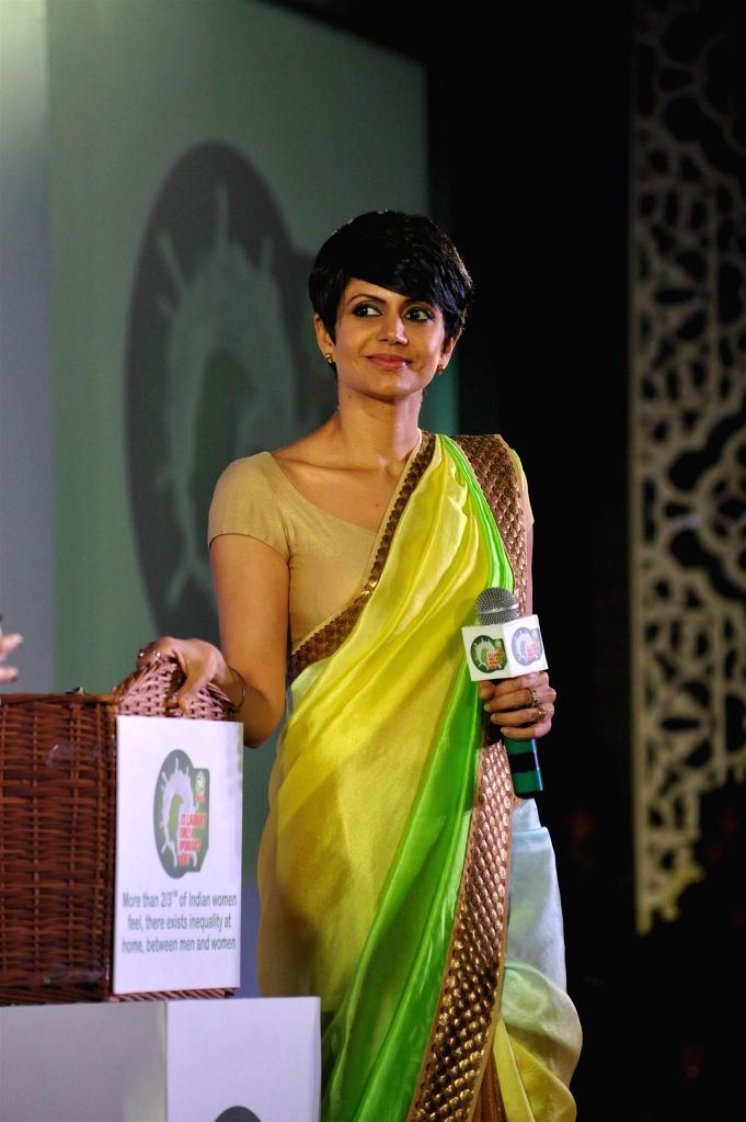 Actor Mandira Bedi during a press conference in Mumbai, on jan. 08, 2015. - Mandira Bedi