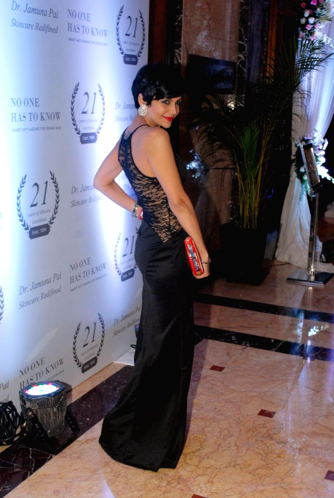 Actor Mandira Bedi during the launch of Dr Jamuna Pai's book No One Has to Know, the ultimate skin care and Anti Ageing Guide in Mumbai, on Jan 27, 2015. - Mandira Bedi