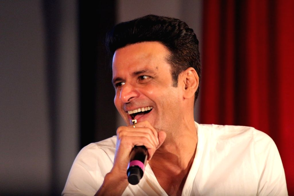 """Mumbai: Actor Manoj Bajpayee at a panel discussion during the promotions of his upcoming film """"Aiyaary"""" in Mumbai on Dec 23, 2017. (Photo: IANS) - Manoj Bajpayee"""