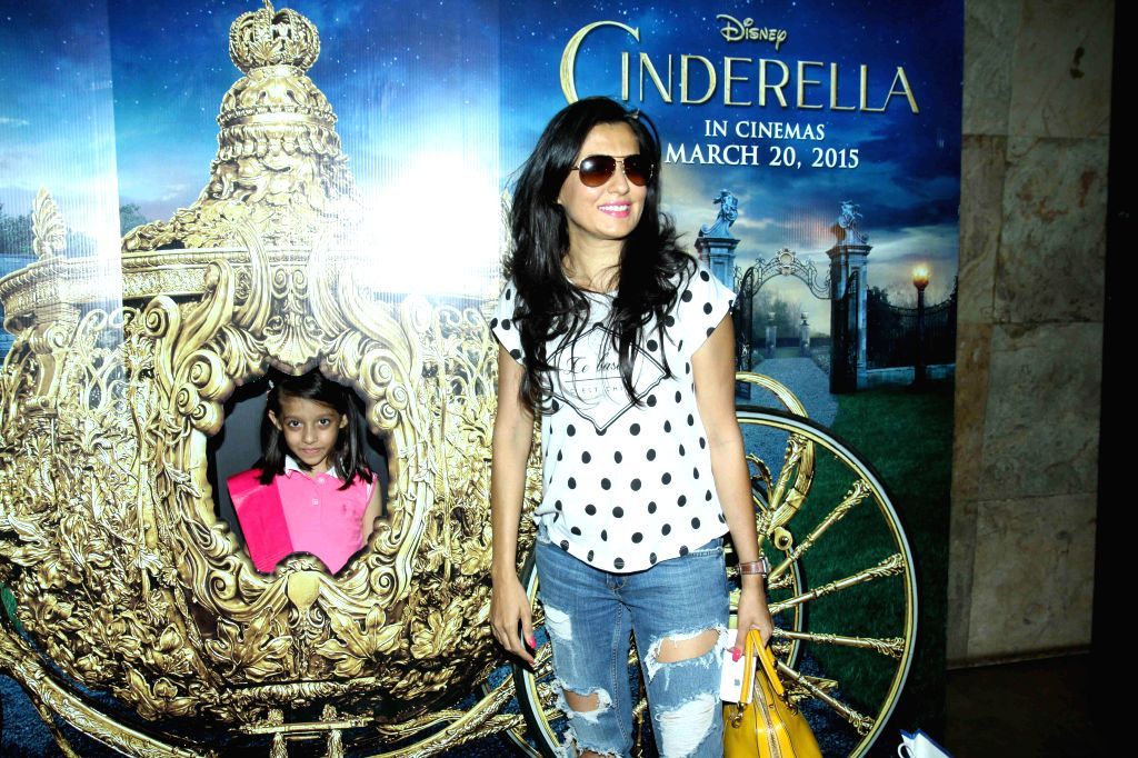 Actor Mini Mathur during the special screening of film Cinderella in Mumbai on March 13, 2015. - Mini Mathur