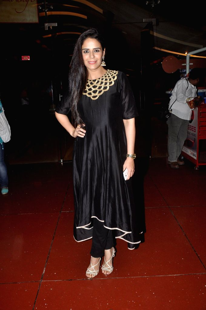 Actor Mona Singh during the press conference of upcoming film Zed Plus in Mumbai on Nov. 11, 2014. - Mona Singh
