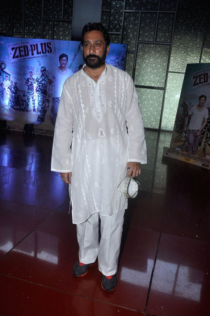 Actor Mukesh Tiwari during the press conference of upcoming film Zed Plus in Mumbai on Nov. 11, 2014. - Mukesh Tiwari