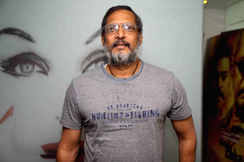 Actor Nana Patekar during the promotion of film Ab Tak Chhappan 2 in Mumbai on Feb 17, 2015. (Photo : IANS) - Nana Patekar
