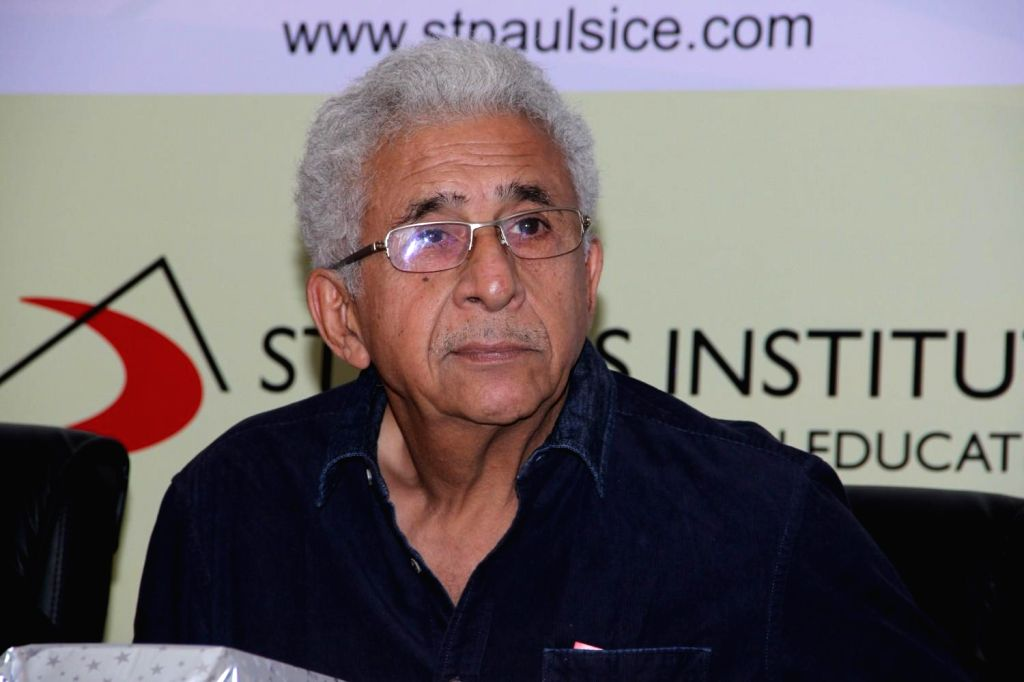 Actor Naseeruddin during the launch of Spice institute's new facility in Mumbai on Feb 12, 2015.