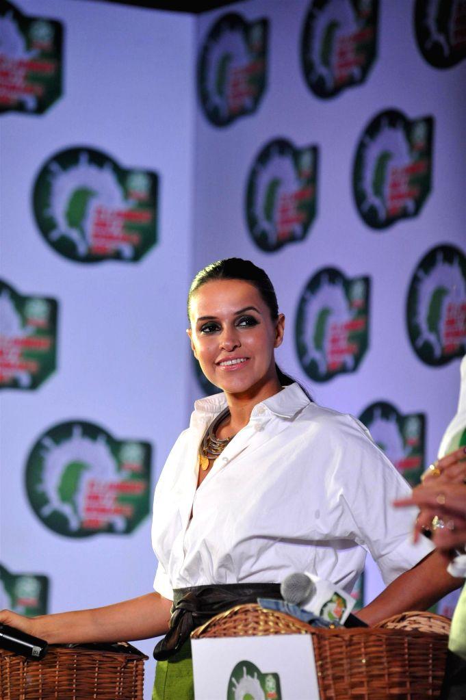 Actor Neha Dhupia during a press conference in Mumbai, on jan. 08, 2015. - Neha Dhupia